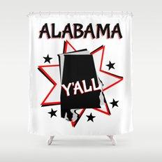 Alabama State Pride T Shirt Shower Curtain