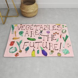 The Future Is Veg Rug