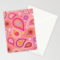 Colorful summer paisleys Stationery Cards