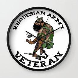 Rhodesian Army Veteran (Color) Wall Clock