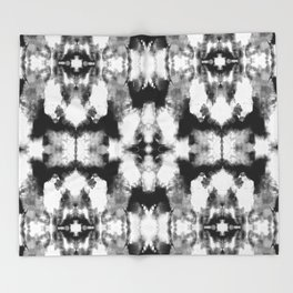 Tie Dye Blacks Throw Blanket