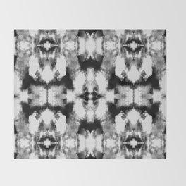 Tie Dye Blacks Throw Blanket
