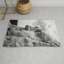 Mt. Rushmore Under Construction - Washington Sculpture Rug
