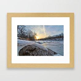 Down the Frozen River 2 Framed Art Print