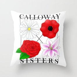 Calloway Sisters Throw Pillow