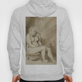 Rembrandt - Nude Woman Seated on a Stool (1655) Hoody