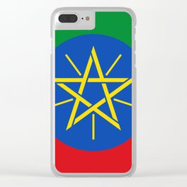Ethiopia Flag Clear iPhone Case