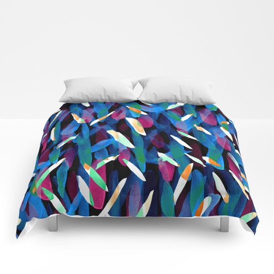 In the Neon Abstract Comforters
