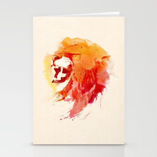 Angry Lion Stationery Cards