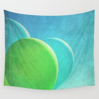 balloons Wall Tapestries featuring Balloons by whimsy canvas