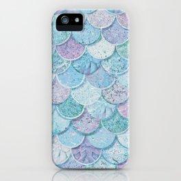 Pastel Marble Mermaid Scale iPhone Case
