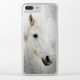 White Horse Clear iPhone Case