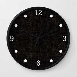 Textured black rough-woven. Wall Clock