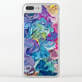 Rainbow Flow Abstraction Clear iPhone Case