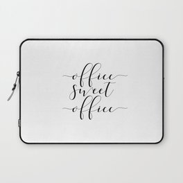 Office sweet office PRINTABLE art,office wall decor,home office decor,calligraphy Laptop Sleeve