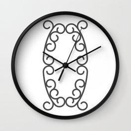 "Letter ""O"" in beautiful design Fashion Modern Style Wall Clock"