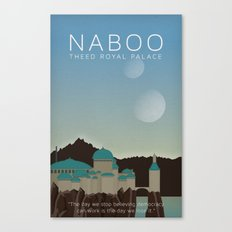 Star Wars Naboo Theed Canvas Print