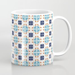 Talavera Floral Tiles Pattern Coffee Mug