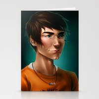 percy jackson Stationery Cards featuring Percy Jackson by spookzilla
