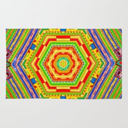 Stained Glass Kaleidoscope Rug