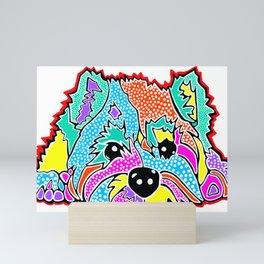 Cotton Candy Dots Westie West Highland Dog Pet Terrier Scottish Scotland Cairn Border Glen Fox Kerry Mini Art Print