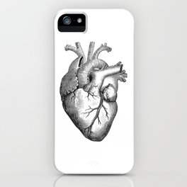 Real Anatomical Human Heart Drawing iPhone Case