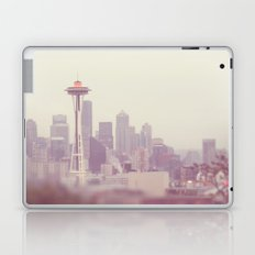 Thinking of you. Seattle skyline Space Needle photograph Laptop & iPad Skin