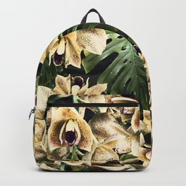Hot Summer Tropical Orchid Jungle Print Backpack