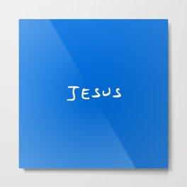 Jesus 2 blue Metal Print