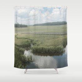 Peaceful Marshy Meadow Shower Curtain
