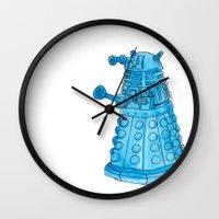 dalek Wall Clocks featuring Dalek by Margret Stewart