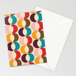 Mid Century Modern Circles Stationery Cards