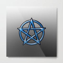 Blue Pentagram Metal Print