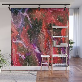 Galaxy (red) Wall Mural