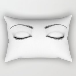 Closed Eyes Original Sketch Drawing - Eyes Art, Apparel and Accessories Rectangular Pillow
