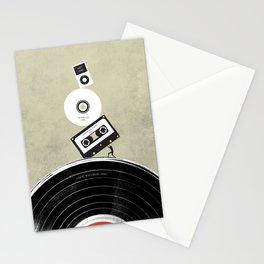 Music Evolution Art Stationery Cards