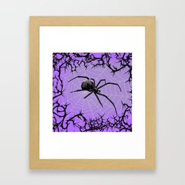 Briar Web- Purple Framed Art Print