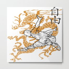 Shaolin Monks Metal Print