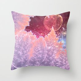 Universe in nature Throw Pillow