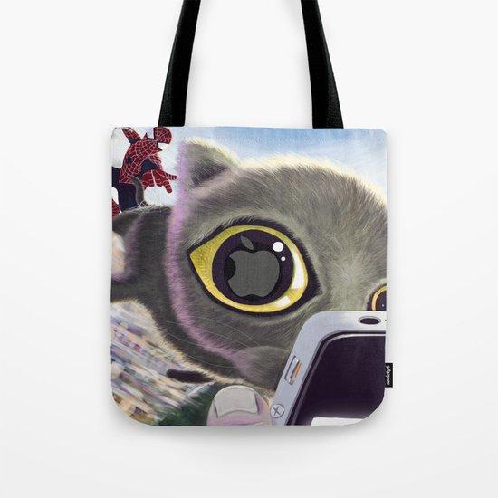 Falling Cat & Hero Tote Bag