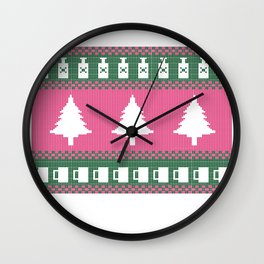 Happy Christmas Lit Wall Clock