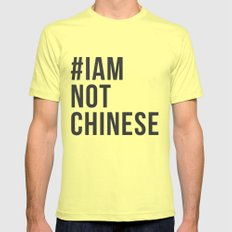 #IAMNOTCHINESE MEDIUM Lemon Mens Fitted Tee