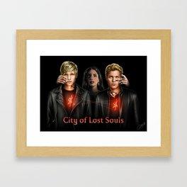 city of lost souls Framed Art Print