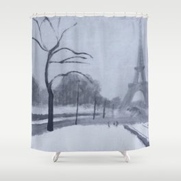 En hiver II Shower Curtain