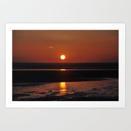 sunset over Saunton Art Print