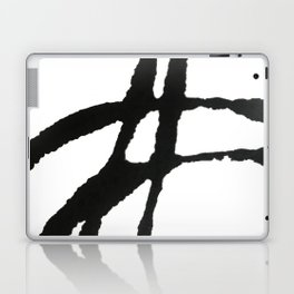 0523: a simple, bold, abstract piece in black and white by Alyssa Hamilton Art Laptop & iPad Skin