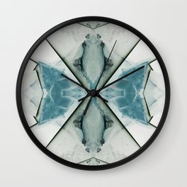 Icy Morn Wall Clock