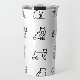CUTE CAT BREEDS PATTERN Travel Mug