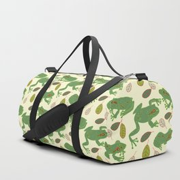 Fun Frogs with Leaves from Trees Duffle Bag