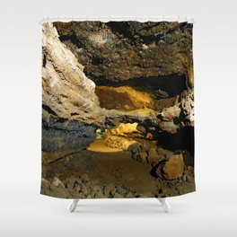 Lava tube cave Shower Curtain